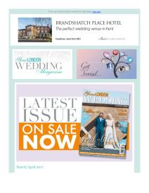 Your London Wedding magazine - April 2017 newsletter