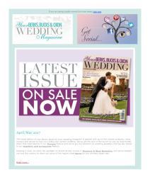 Your Berks, Bucks and Oxon Wedding magazine - May 2017 newsletter