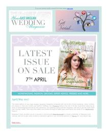 Your East Anglian Wedding magazine - May 2017 newsletter