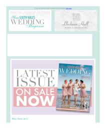 Your South Wales Wedding magazine - May 2017 newsletter