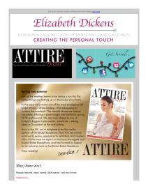 Attire Bridal magazine - May 2017 newsletter