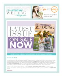 Your West Midlands Wedding magazine - July 2017 newsletter