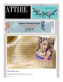 Attire Accessories magazine - August 2017 newsletter