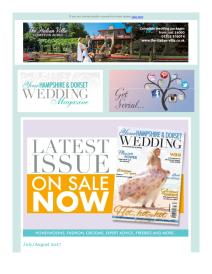 Your Hampshire and Dorset Wedding magazine - August 2017 newsletter