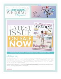 Your Devon and Cornwall Wedding magazine - August 2017 newsletter