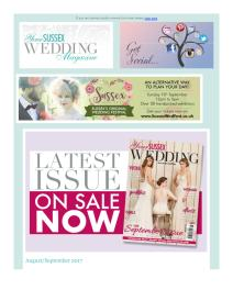 Your Sussex Wedding magazine - August 2017 newsletter
