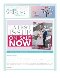 Your London Wedding magazine - August 2017 newsletter