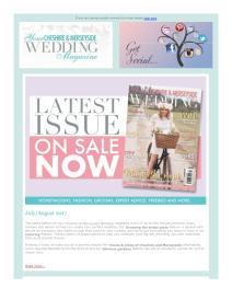 Your Cheshire & Merseyside Wedding magazine - August 2017 newsletter