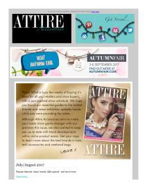 Attire Accessories magazine - September 2017 newsletter