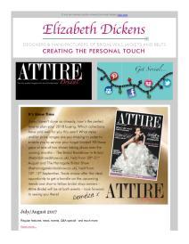 Attire Bridal magazine - August 2017 newsletter