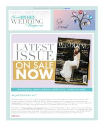 Your Herts and Beds Wedding magazine - September 2017 newsletter