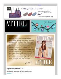 Attire Accessories magazine - October 2017 newsletter