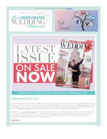 Your Cheshire & Merseyside Wedding magazine - September 2017 newsletter