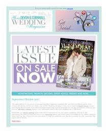 Your Devon and Cornwall Wedding magazine - September 2017 newsletter