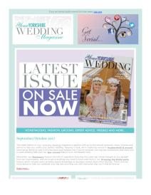 Your Yorkshire Wedding magazine - October 2017 newsletter