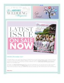 Your North West Wedding magazine - October 2017 newsletter