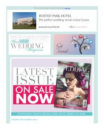Your Sussex Wedding magazine - November 2017 newsletter