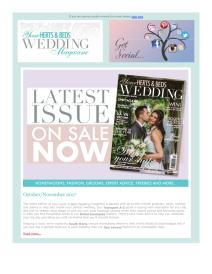 Your Herts and Beds Wedding magazine - November 2017 newsletter