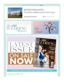 Your Surrey Wedding magazine - November 2017 newsletter