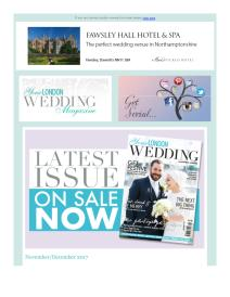 Your London Wedding magazine - November 2017 newsletter