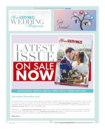 Your South Wales Wedding magazine - December 2017 newsletter