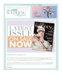 Your Sussex Wedding magazine - December 2017 newsletter
