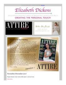 Attire Bridal magazine - December 2017 newsletter