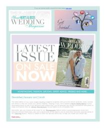 Your Herts and Beds Wedding magazine - January 2018 newsletter