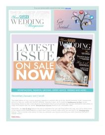 Your Sussex Wedding magazine - January 2018 newsletter