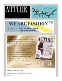 Attire Accessories magazine - January 2018 newsletter