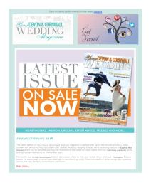 Your Devon and Cornwall Wedding magazine - February 2018 newsletter