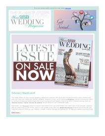 Your Sussex Wedding magazine - February 2018 newsletter