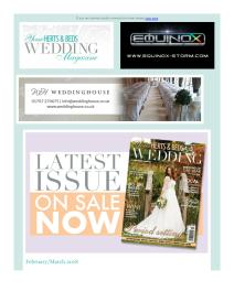 Your Herts and Beds Wedding magazine - February 2018 newsletter