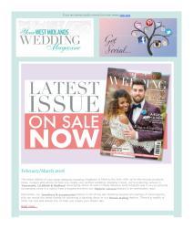 Your West Midlands Wedding magazine - February 2018 newsletter