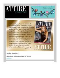 Attire Accessories magazine - March 2018 newsletter