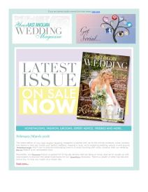 Your East Anglian Wedding magazine - March 2018 newsletter