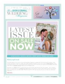 Your Devon and Cornwall Wedding magazine - April 2018 newsletter