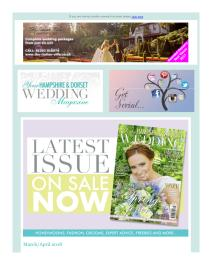 Your Hampshire and Dorset Wedding magazine - April 2018 newsletter