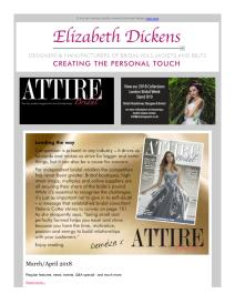Attire Bridal magazine - March 2018 newsletter