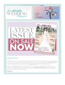 Your Herts & Beds Wedding magazine - April 2018 newsletter