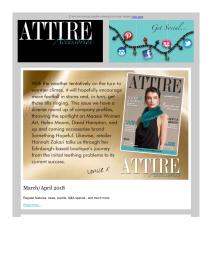 Attire Accessories magazine - May 2018 newsletter