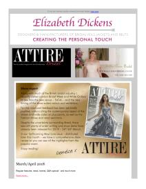 Attire Bridal magazine - April 2018 newsletter