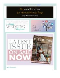 An Essex Wedding magazine - May 2018 newsletter