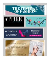 Attire Accessories magazine - August 2018 newsletter