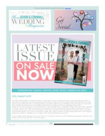 Your Devon and Cornwall Wedding magazine - July 2018 newsletter