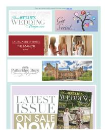 Your Herts and Beds Wedding magazine - August 2018 newsletter