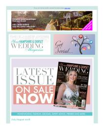 Your Hampshire and Dorset Wedding magazine - August 2018 newsletter