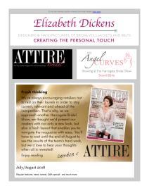 Attire Bridal magazine - August 2018 newsletter