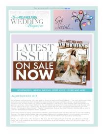 Your West Midlands Wedding magazine - August 2018 newsletter