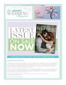 Your North West Wedding magazine - August 2018 newsletter